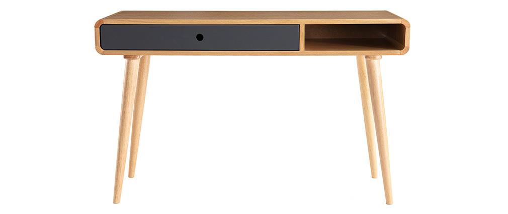 console bureau scandinave ch ne clair et gris copenhague. Black Bedroom Furniture Sets. Home Design Ideas