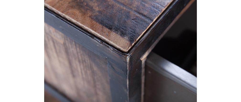 Console design 4 tiroirs 1 étagère LOFT