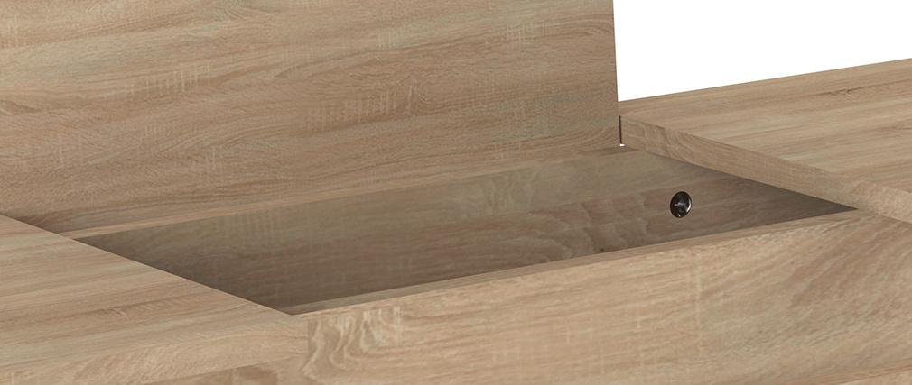 Console design bois et métal noir LUMY