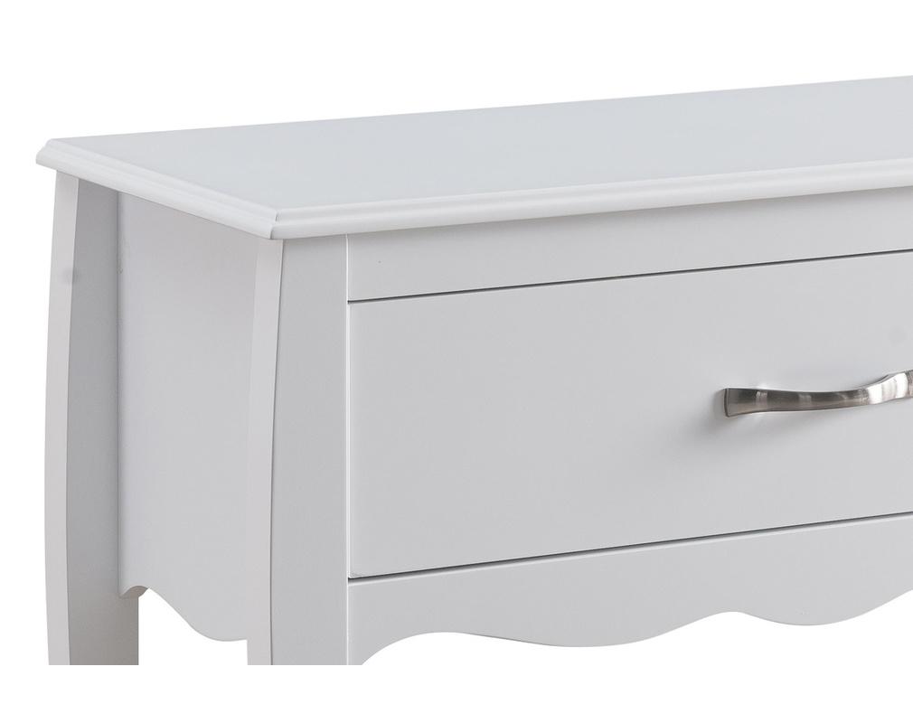 Console Design Laquee Blanc 1 Tiroir Margot Miliboo