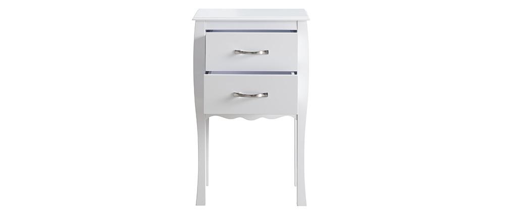 Console design laquée blanc 2 tiroirs MARGOT
