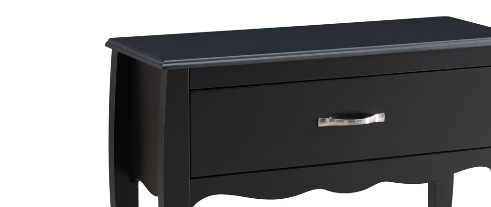 Console design laquée noir 1 tiroir MARGOT