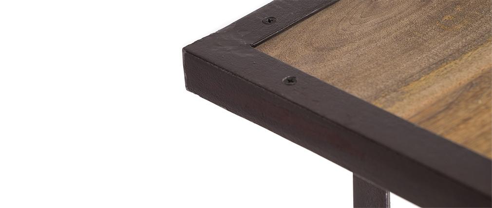 Console haute bois et m tal industrielle atelier miliboo for Table haute bois et metal