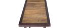 Console haute bois et métal industrielle ATELIER