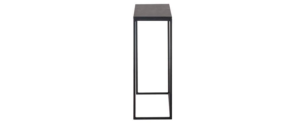 Console industrielle métal noir KARL
