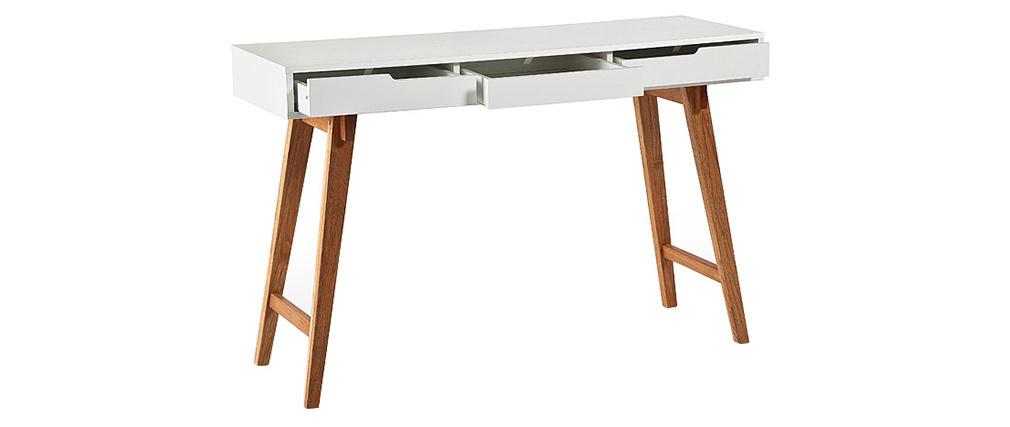 Console scandinave bois et blanc ESKA