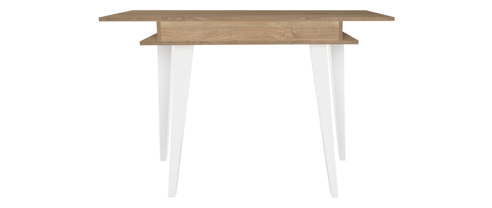 Console scandinave bois et blanc ORIGAMI