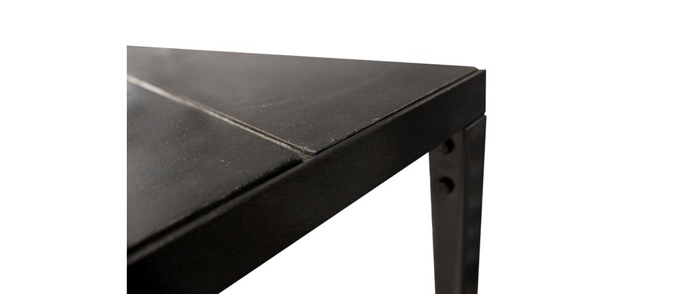 Console sur roulettes à étagères métal et béton RAWY