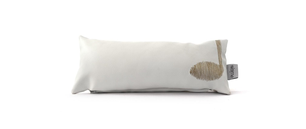 Coussin 40 X 20 Skai Design SOUND II Blanc, fil doré