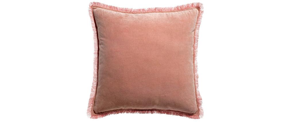Coussin carré en velours rose 45 x 45 PESCA
