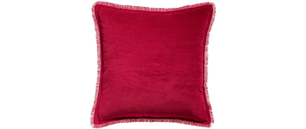 Coussin carré en velours rouge 45 x 45 PESCA