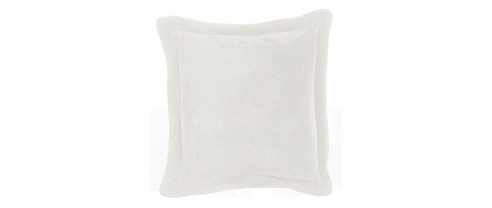 Coussin doux blanc 50 x 50 cm TENDER