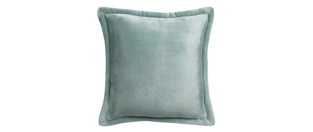 Coussin doux bleu grisé 50 x 50 cm FERO