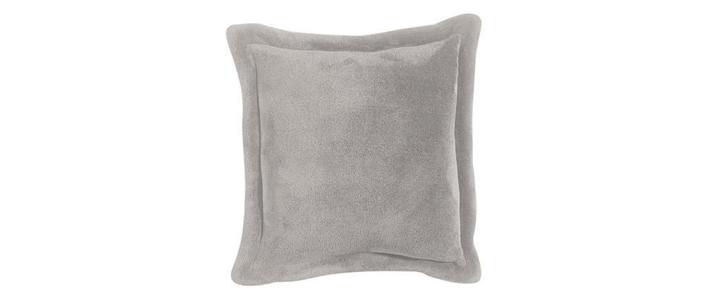 Coussin doux gris 50 x 50 cm FERO
