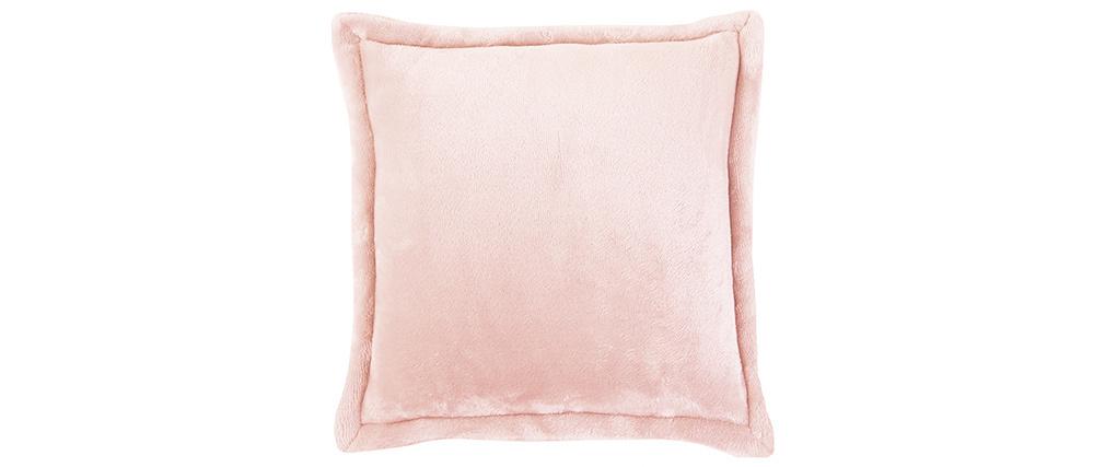 Coussin doux rose 50 x 50 cm FERO