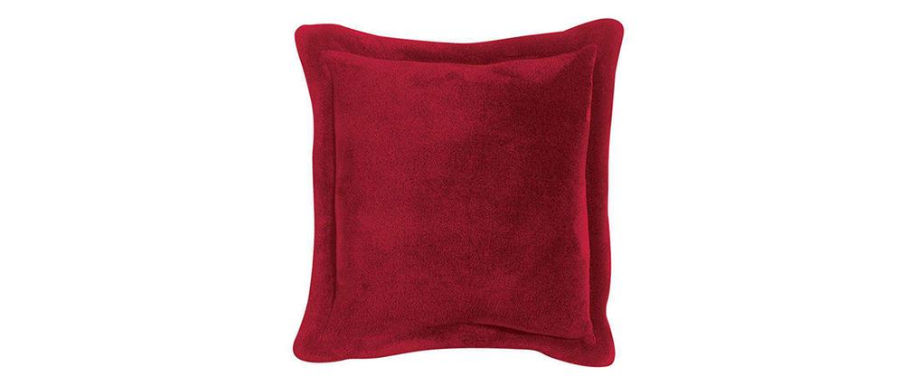 Coussin doux rouge 50 x 50 cm FERO