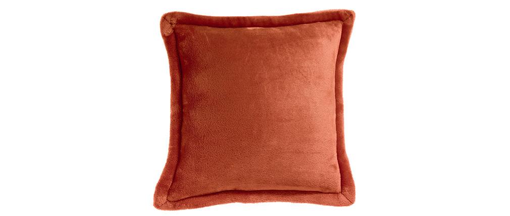 Coussin doux rouge tomette 50 x 50 cm FERO
