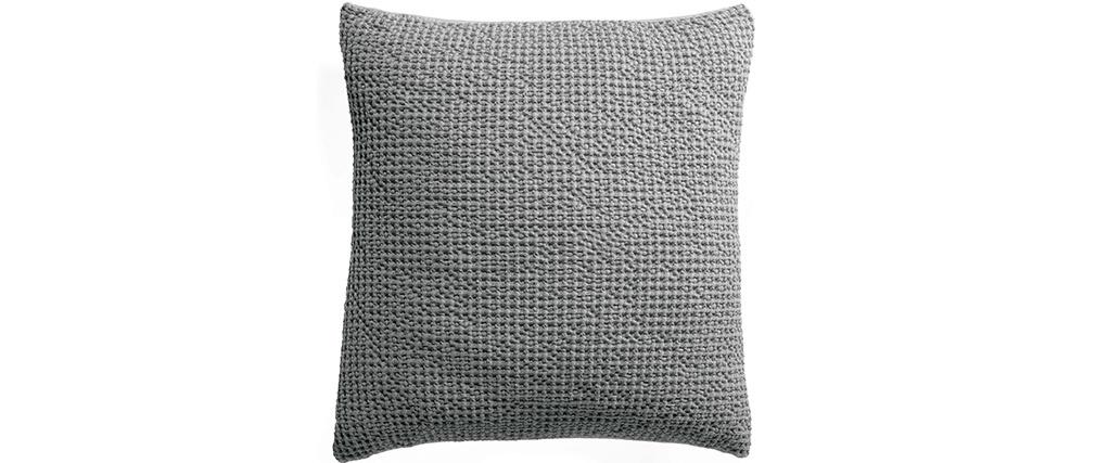 Coussin en coton gris perle 45 x 45 cm YAM