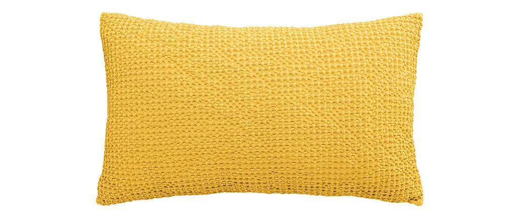 Coussin en coton jaune 30 x 50 cm YAM