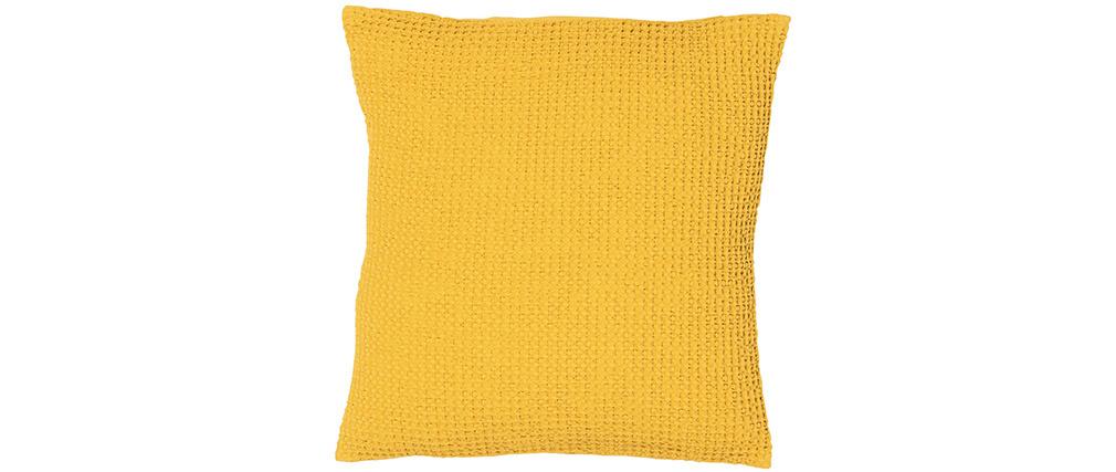Coussin en coton jaune 45 x 45 cm YAM