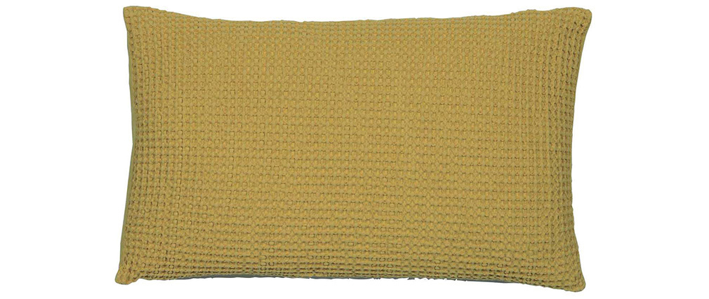 Coussin en coton lavé anis 30 x 50 cm YAM