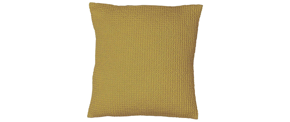 Coussin en coton lavé anis 45 x 45 cm MAIA