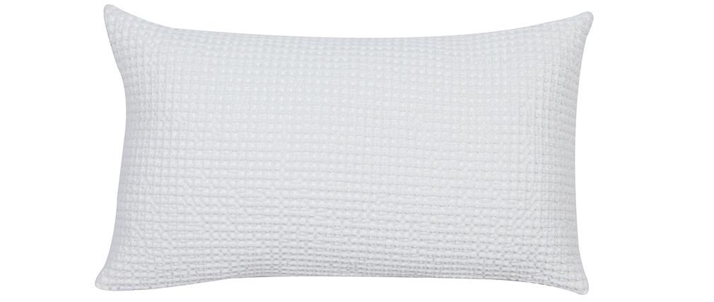 Coussin en coton lavé blanc cassé 30 x 50 cm MAIA