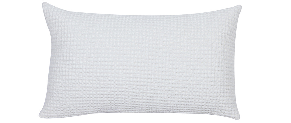Coussin en coton lavé blanc cassé 30 x 50 cm YAM