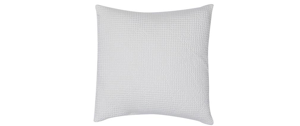 Coussin en coton lavé blanc cassé 45 x 45 cm YAM