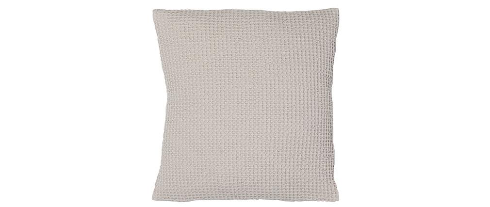 Coussin en coton lavé couleur lin 45 x 45 cm YAM