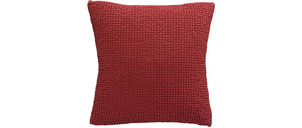 Coussin en coton rouge 45 x 45 cm YAM