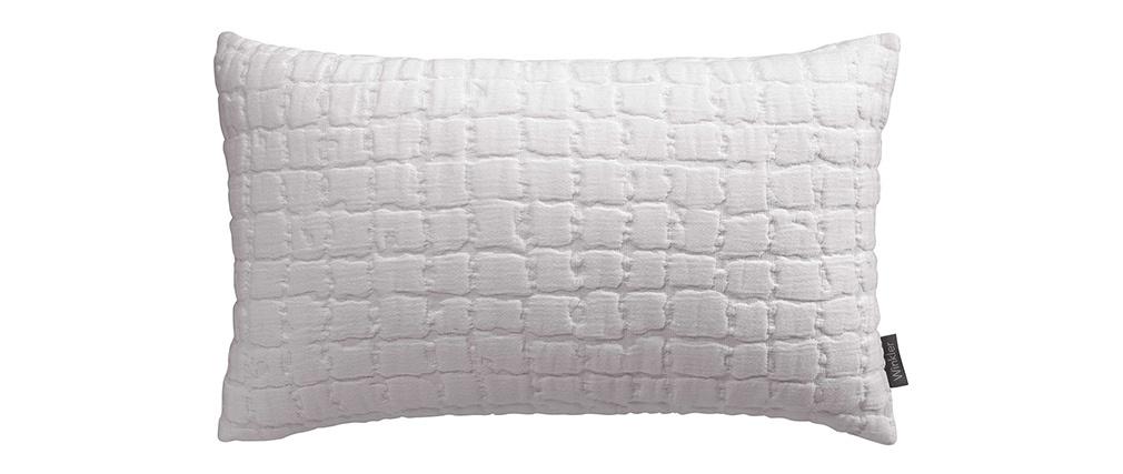 Coussin en coton texturé gris perle 30 x 50 cm WAFLE