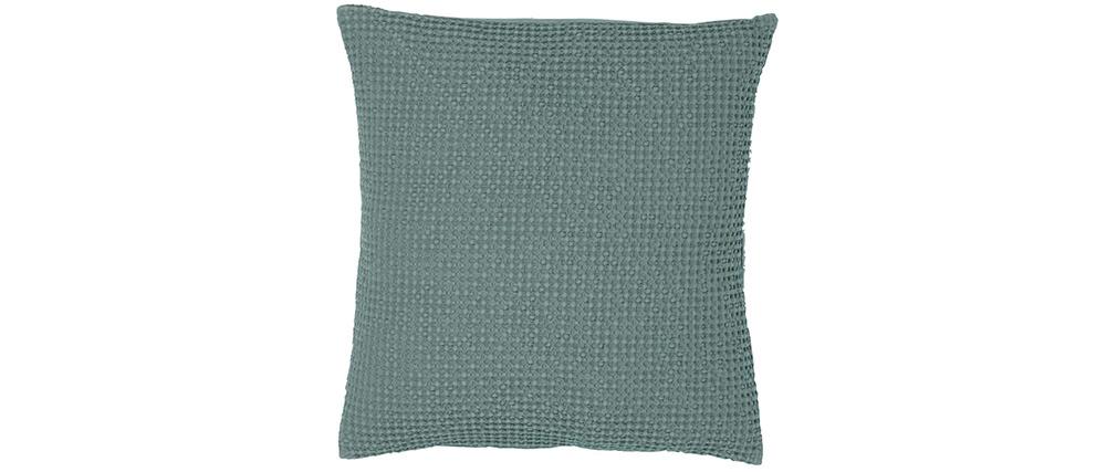 Coussin en coton vert sauge 45 x 45 cm YAM