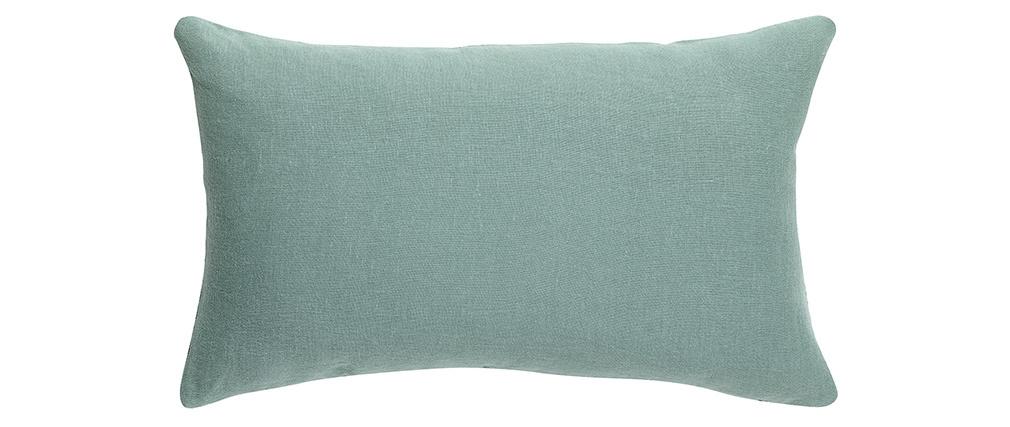 Coussin en lin bleu vert 30 x 50 cm LINEN