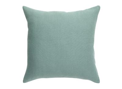 Coussin En Lin Bleu Vert 45 X 45 Cm Linen