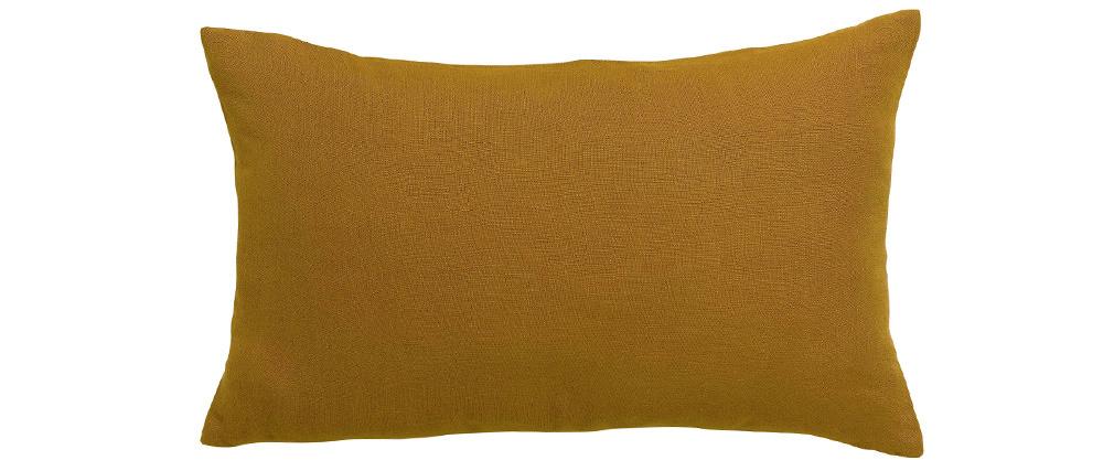Coussin en lin bronze 30 x 50 cm LINEN