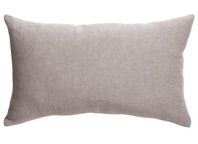 Coussin en lin gris 30 x 50 cm LINEN