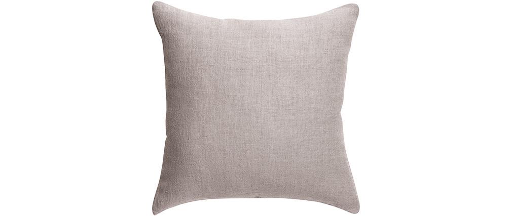 Coussin en lin gris 45 x 45 cm LINEN