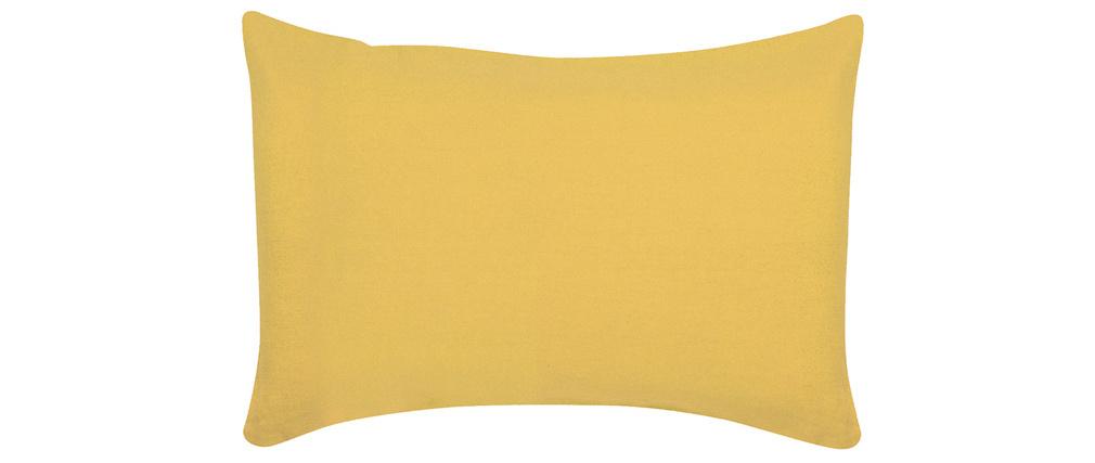 Coussin en lin jaune 30 x 50 cm LINEN