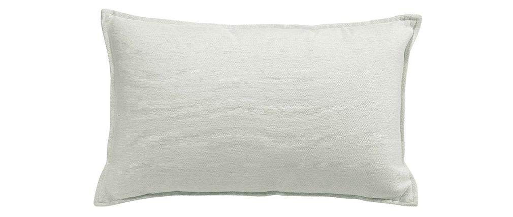 Coussin en velours blanc 30 x 50 cm ALOU
