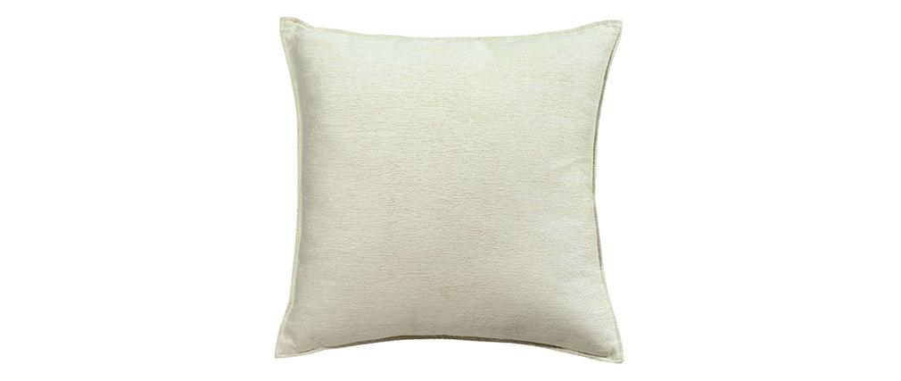 Coussin en velours blanc 45 x 45 cm VELOR