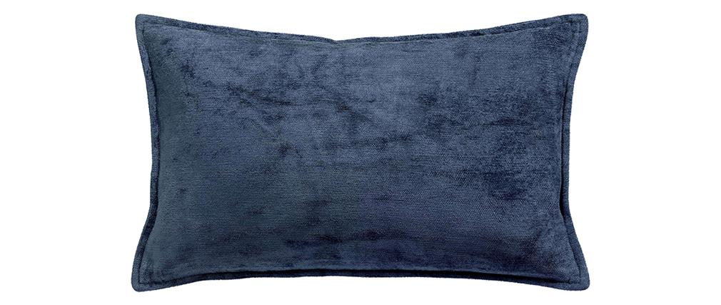 Coussin en velours bleu 30 x 50 cm ALOU