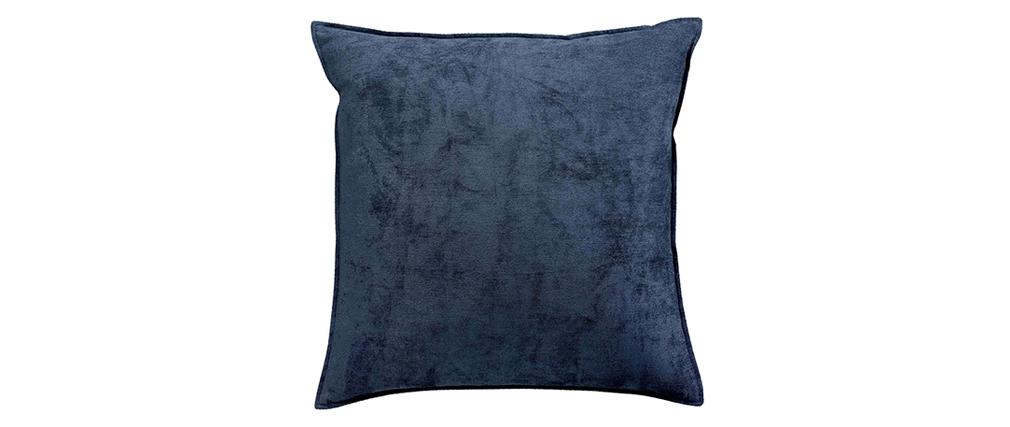 Coussin en velours bleu 45 x 45 cm VELOR