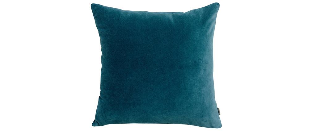 Coussin en velours bleu 45 x 45 cm VELUTO