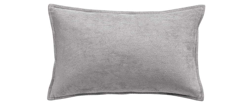 Coussin en velours gris 30 x 50 cm ALOU