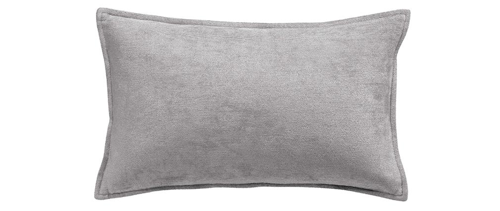 Coussin en velours gris 30 x 50 cm VELOR