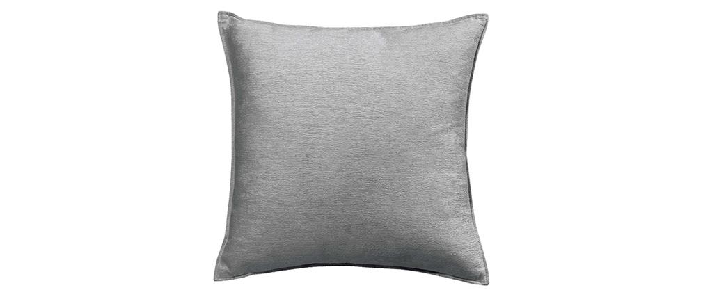 Coussin en velours gris 45 x 45 cm ALOU