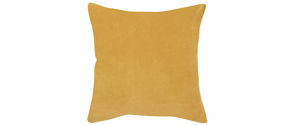 Coussin en velours jaune 45 x 45 cm VELUTO