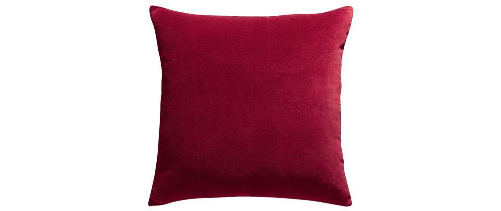 Coussin en velours rouge 45 x 45 cm VELUTO