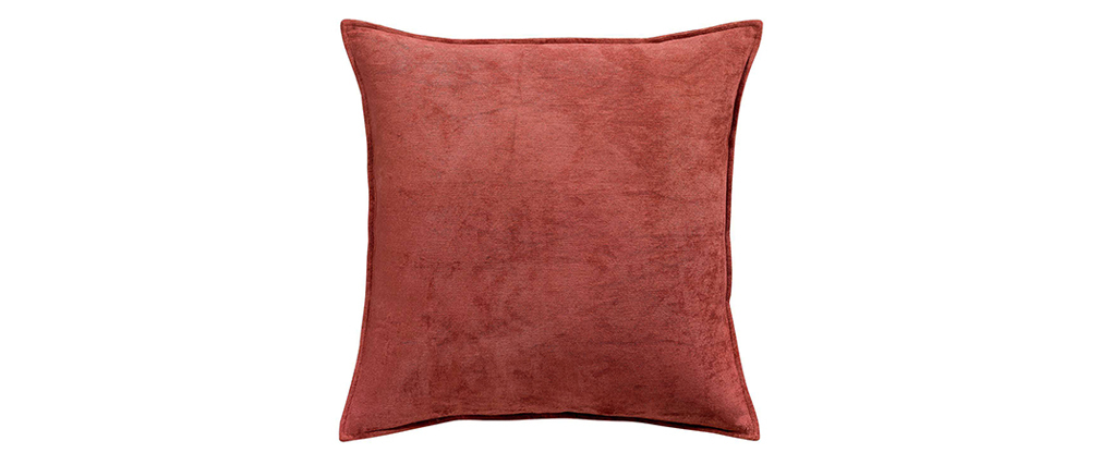 Coussin en velours rouge tomette 45 x 45 cm VELOR